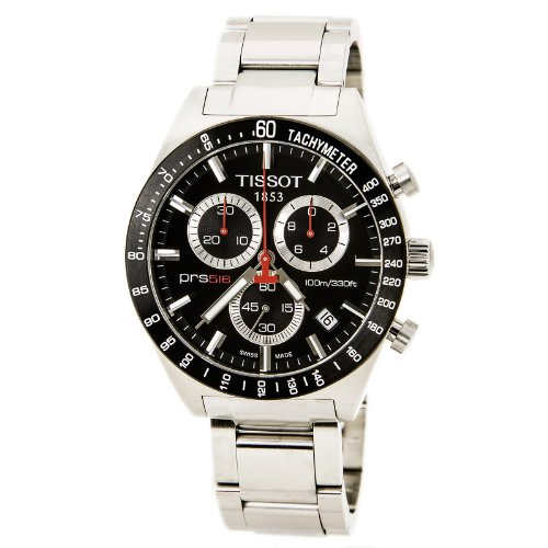 Tissot Reloj analógico para Hombre. de Cuarzo con Correa en Acero Inoxidable TIST0444172105100