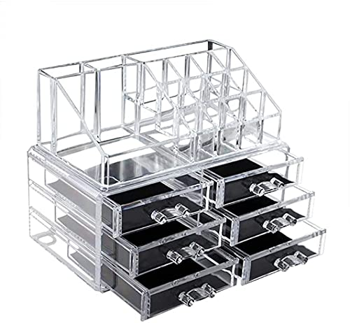 Clear Makeup Organizer Skin Care Cosmetic Display Case,Makeup Organizer Cosmetics,Jewelry,Hair Accessories,Bathroom Counter or Dresser