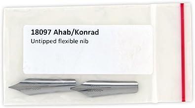 Noodlers Pack de 2 puntas chatas flexibles para plumas estilográficas Noodlers