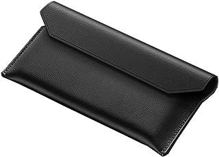 جراب قلاب مغناطيسي، جراب جلد طبيعي ذو مظهر مغلف، جراب لهاتف سامسونج جالاكسي Z فولد 2 - أسود
