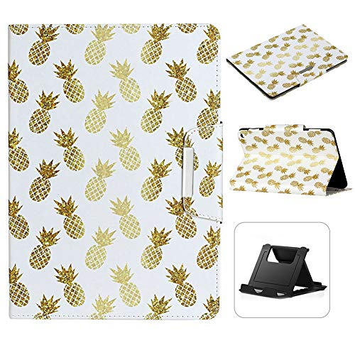 Case for iPad 10.2 inch 2019 Ananas Pattern,Shinyzone Slim Premium PU Leather Folding Stand Case with Smart Sleep Mode Magnetic Clasp Protective Cover for 2019 iPad 10.2 inch
