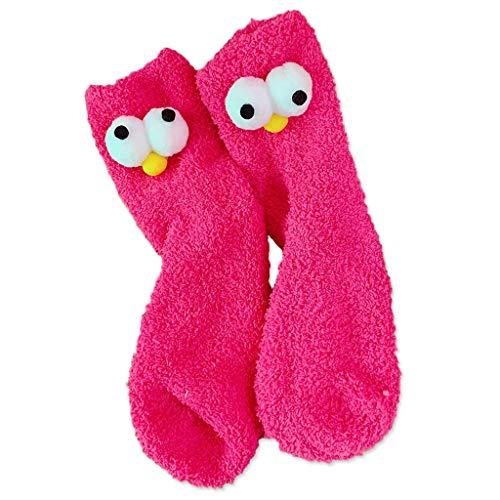 Planuuik Vrouwen mannen Warme wintersokken Slaapzak Home Funny Coral Fleece Sock