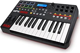 Akai Professional MPK225   Compact 25-Key Semi-Weighted USB MIDI Keyboard Controller Including Core Control From The MPC Workstations