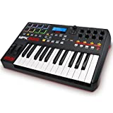 AKAI Professional MPK225 - USB MIDI Keyboard Controller with 25 Semi Weighted Keys, Assignable MPC Controls, 8 Pads and Q-Links, Plug and Play