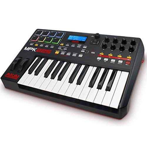 AKAI Professional MPK225 - Kompaktes 25 Tasten semi gewichtetes USB MIDI Keyboard inkl. wichtiger Kontrollen der MPC Workstations, VIP 3.0 und Software Paket