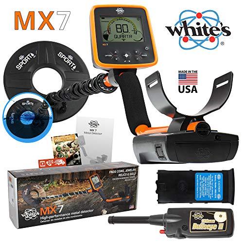MX7 Whites Metal Detector Summer Bundle with Bullseye II Pinpointer Detectors Metal
