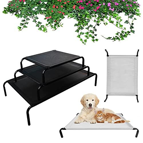 Hundeliege Outdoor erhöhtes Hundebett Haustierliege für Hunde und Katzen, Dog Bed Hundesofa Camping Liege Feldbett mit Waschbar Mesh, Campingbett für Reisen,75 x 47 cm, höhe in 15cm