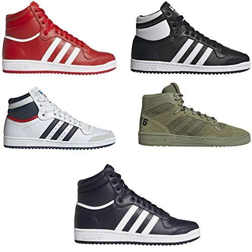 adidas Baskets Top Ten pour homme, rouge, rouge (rouge/blanc), 43 EU