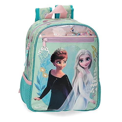 Disney Frozen Follow Your Dreams Mochila de Paseo pequeña Azul 23x28x10 cms Poliéster 6,44L