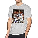 Retro FAI-Ry-Tail - Camiseta de manga corta para hombre de algodón para adultos, camisas de verano divertidas, color negro, gris, L