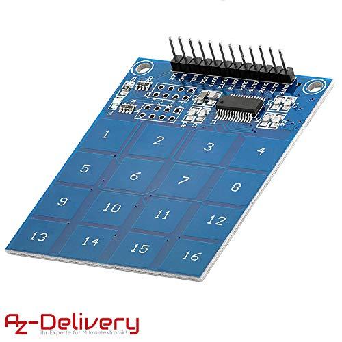 AZDelivery TTP229 16-Channel Digitaler Touch Kapazitiver Sensor Modul XD-62B TTP229 Arduino Raspberry PI
