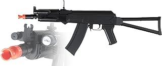 CYMA 225 FPS P74 AK47 Spring Airsoft Rifle Gun w/Flashlight and Laser