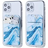 2Pack Adhesive Phone Pocket,Cell Phone Stick On Card Wallet Sleeve,Credit Cards/ID Card...