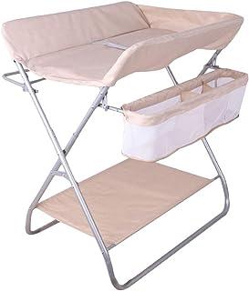 Commode de massage pour b/éb/é pour la maison et les voyages Table /à langer Station de couches pliante pour les petits espaces P/épini/ère portable avec des sangles de s/écurit/é