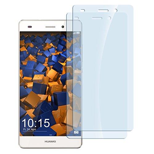 mumbi Hart Glas Folie kompatibel mit Huawei P8 Lite 2015 Panzerfolie, Schutzfolie Schutzglas (2X)