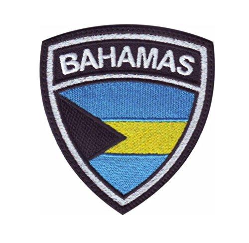 MAREL Patch Flag Flagge Bahamas Aufbügler Embroidery Stickerei cm 6,5 x 5,5-1458