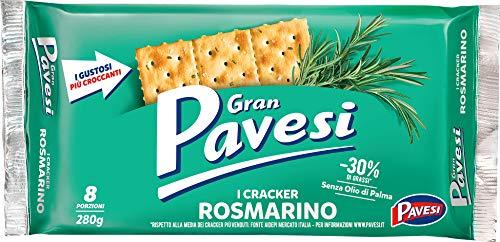 Gran Pavesi Crackers Rosmarin Salzgebäck gesalzen kekse 250g