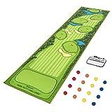 GoSports Pure Putt Challenge Mini Golf Course Putting Game | Huge 10ft Putting Green Rug with 16 Golf Balls & Scorecard