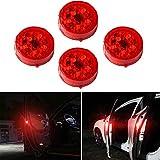 XTAUTO 5-LED Car Door Warning Light Universal Wireless Car Door Safety Warning Light for Anti Rear-End...