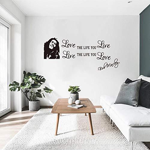 Popular Bob Marley famoso músico vinilo pared pegatina pared vinilo arte