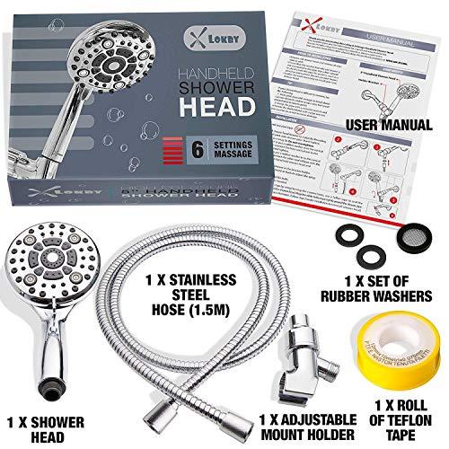 High Pressure Handheld Shower Head 6-Setting - Luxury 5