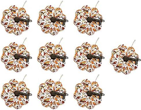 huanyudaeroy 10 Max 60% OFF Pcs Halloween Tulsa Mall Hanging Ornaments Pumpkins Artific