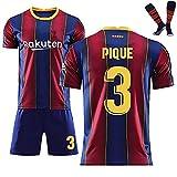 LISI Camiseta de fútbol del Barcelona FC 2021 Home Court para hombre, pantalones cortos de fútbol para niños y adultos, unisex, para jóvenes fanáticos, traje de fútbol retro – 3 piezas, A,28