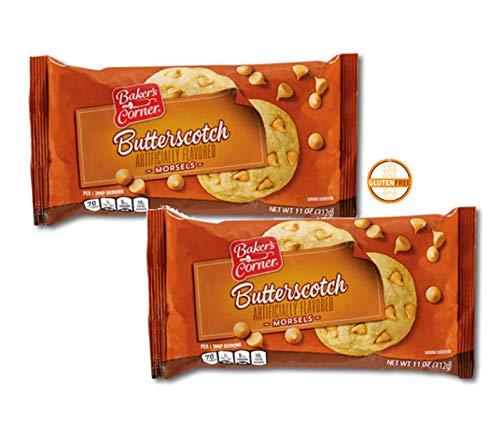 Baker's Corner Gluten-Free Butterscotch Morsels Chips for Baking, Toppings - 2 Packs