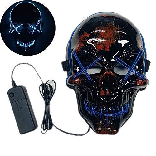 Car Personalizada Sticker Decal Máscaras de Halloween Mascarada Nueva máscara Partes emisores LED 2pcs (Color : 5)