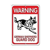 165グレートティンサイン警告ジャーマンシェパード番犬ペット動物アルミメタルサイン壁の装飾12x8インチ