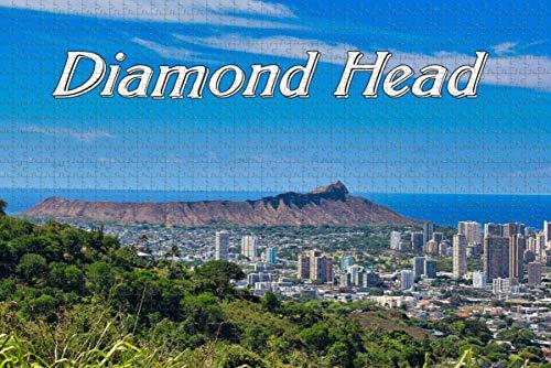 USA America Diamond Head Volcano Honolulu Jigsaw Puzzle per adulti 1000 pezzi regalo da viaggio in legno Souvenir