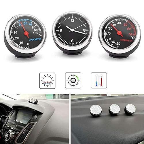 mementoy Auto Thermometer Hygrometer Quarzuhr Selbstklebende Dekoration Für Auto, Schiff, Schiff, Tisch