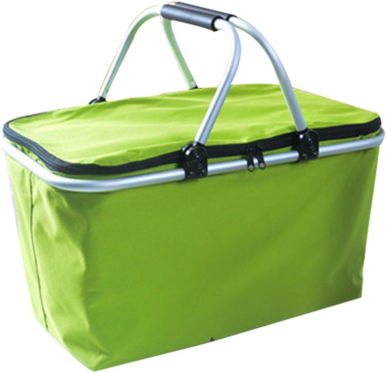 Yecanbeibao 30L Large Capacity Portable Collapsible Shopping Basket Storage Basket Fresh Basket Picnic Bag