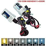 Captain LED H8 / H9 / H11 HID Xenon Replacement fog Bulbs Headlight 55W Lamp Light 4300K for all bikes and cars (high intensity discharge) (55 watt, pack of 2)