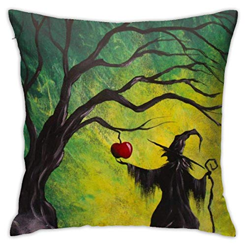 NHJYU Soft Throw Pillow Case 18 'X 18' Acrílico-Pintura-tutoriales-para-Principiantes-Elegante-Encantado-Apple-Step Funda de Almohada Diseño Moderno, Cubiertas de Tiro Cuadrado, Cojín Decorativo par