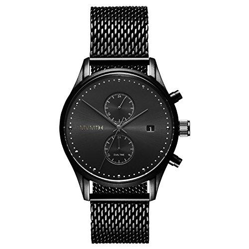 MVMT Herren Multi Zifferblatt Quarz Uhr mit Edelstahl Armband D-MV01-BL2