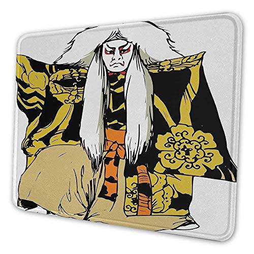 Kabuki Maske ergonomische Mauspad Japan traditionelle darstellende Kunst Charakter Schauspieler Figur Illustration drucken Mauspad für Frauen mehrfarbig, Es