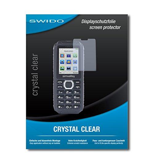 SWIDO Schutzfolie für Simvalley Mobile XT-690 [2 Stück] Kristall-Klar, Hoher Festigkeitgrad, Schutz vor Öl, Staub & Kratzer/Glasfolie, Bildschirmschutz, Bildschirmschutzfolie, Panzerglas-Folie