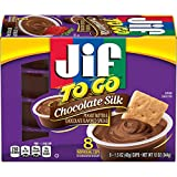 Jif To Go Chocolate Silk Peanut Butter and Chocolate Flavored Spread, 48- 1.5 Ounce Cups, Perfect...