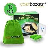 CozyBazaar® - Tappi Orecchie per dormire Riutilizzabili Lavabili Insonorizzanti per Viagg...
