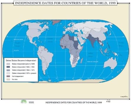 Universal Map World Time sale History Wall Maps Very popular C Dates - for Independence