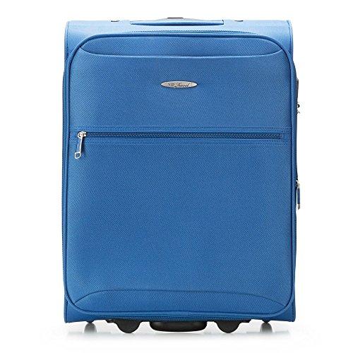 WITTCHEN Koffer – Handgepäck   Textil, Material: Polyester   hochwertiger und Stabiler   Blau   45 L   55x40x23 cm