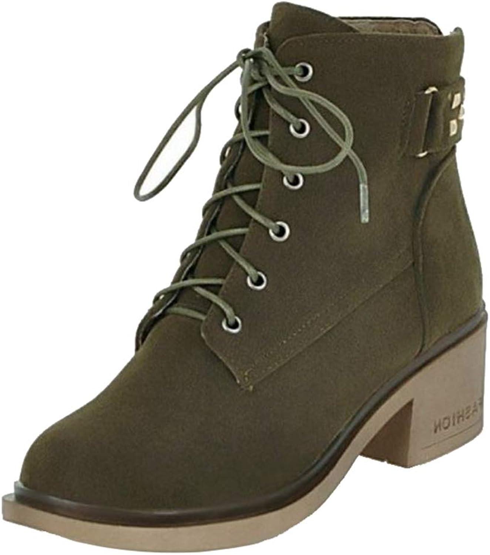Onewus Women Casual Martin Boots