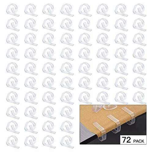 FEIGO Tafelklemmen van kunststof 1,2 mm tafelkleedhouder doorzichtig tafelklemmen tafelkleed clips 72 transparant
