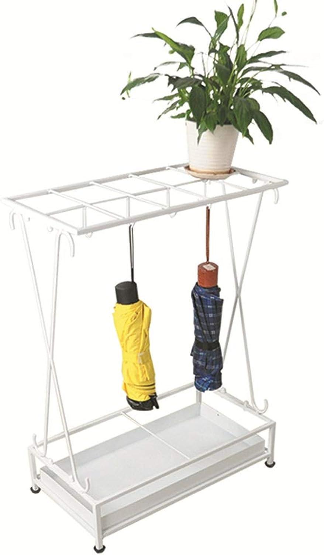 Umbrella Stand Home Black Wrought Iron 10 Hole Storage Rack European Hanging Umbrella Storage Rack (color   White)