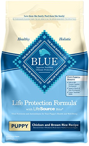 Blue Buffalo Life Protection Formula Natural Puppy Dry Dog Food, Chicken and Brown Rice 6-lb