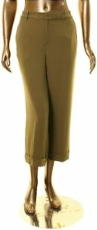 Ralph Lauren Womens Green Cropped Wear to Work Pants Size 10P