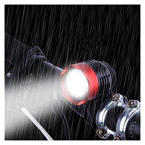 JIANGFBH Linterna Frontal Interfaz de luz LED de Bicicletas Bicicletas de luz del Faro del Modo 3 Bicicletas de montaña Carretera Frente de la Bicicleta 3000 lúmenes XML T6 USB (Color : Black)