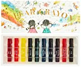 Transparent crayons 10 color set KE-AC27 Kokuyo