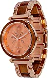 Maui Kool Steel and Wood Hybrid Watch Paia Collection for Women Analog Watch Bamboo Box (P3 - Koa Wood Rose Gold Face)